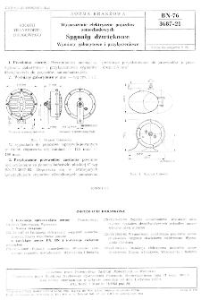 Wyposażenie elektryczne pojazdów samochodowych - Sygnały dźwiękowe - Wymiary gabarytowe i przyłączeniowe BN-76/3687-21
