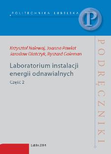 Laboratorium instalacji energii odnawialnych. Cz. 2