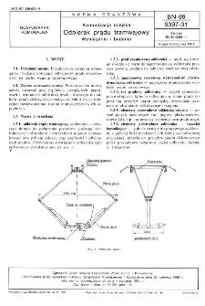 Komunikacja miejska - Odbierak prądu tramwajowy - Wymagania i badania BN-89/9397-31