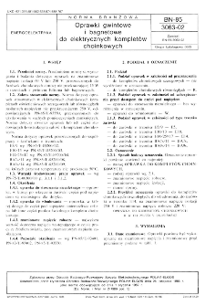 Oprawki gwintowe i bagnetowe do elektrycznych kompletów choinkowych BN-85/3063-02
