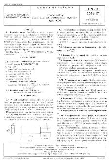 Kondensatory papierowo-politereftalanowo-etylenowe typu KOS BN-79/3063-17
