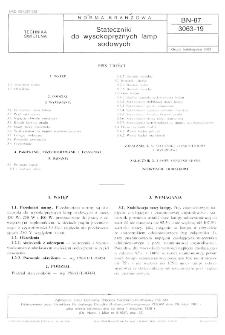 Stateczniki do wysokoprężnych lamp sodowych BN-87/3063-19