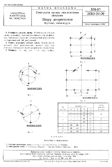 Elektryczne oprawy oświetleniowe okrętowe - Stopy projektorów - Wymiary instalacyjne BN-81/3083-34.09