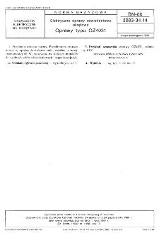 Elektryczne oprawy oświetleniowe okrętowe - Oprawy typu OZ4031 BN-80/3083-34.14
