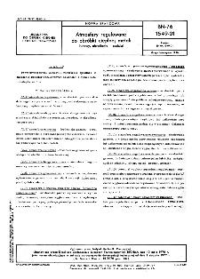 Atmosfery regulowane do obróbki cieplnej metali - Nazwy, określenia i podział BN-76/1549-01