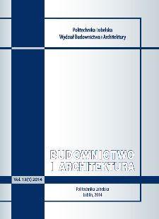 Budownictwo i Architektura Vol. 13(1)2014