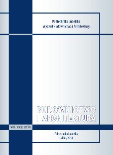 Budownictwo i Architektura Vol. 13(2)2014