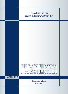 Budownictwo i Architektura Vol. 13(3)2014