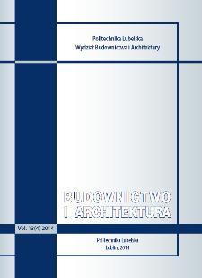 Budownictwo i Architektura Vol. 13(4)2014