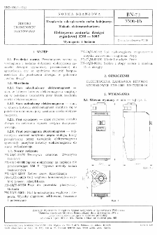 Urządzenia zabezpieczenia ruchu kolejowego - Blokada elektromechaniczna - Elektryczna zastawka dźwigni sygnałowej ZNS-1002 - Wymagania i badania BN-72/3506-16