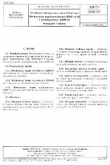 Urządzenia zabezpieczenia ruchu kolejowego - Mechaniczny napęd zwrotnicowy ZMZ-10-20 i wykolejnicowy ZMW-10 - Wymagania i badania BN-73/3506-19