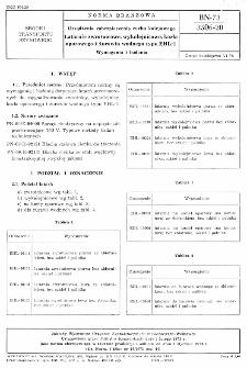 Urządzenia zabezpieczenia ruchu kolejowego - Latarnie zwrotnicowe, wykolejnicowe, kozła oporowego i żurawia wodnego typu EHL-1 - Wymagania i badania BN-73/3506-20