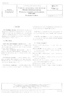 Urządzenia zabezpieczenia ruchu kolejowego - Blokada elektromechaniczna - Powtarzacz sygnałowy prekaźnikowy ZPH-1003 - Wymagania i badania BN-73/3506-22