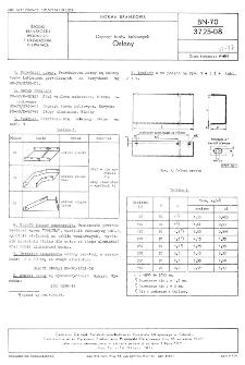 Osprzęt torów kablowych - Osłony BN-70/3725-08