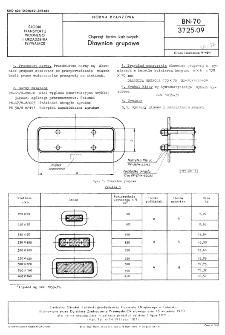 Osprzęt torów kablowych - Dławnice grupowe BN-70/3725-09