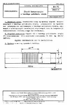 Złączki kompensacyjne z twardego polichlorku winylu BN-75/3067-14