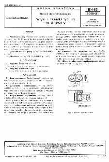 Sprzęt elektroinstalacyjny - Wtyki i nasadki typu B 10 A, 250 V BN-83/3069-01