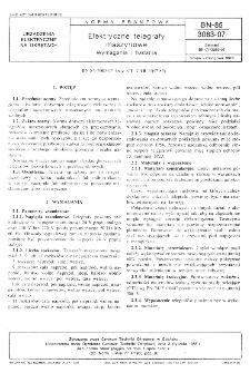 Elektryczne telegrafy maszynowe - Wymagania i badania BN-85/3083-07