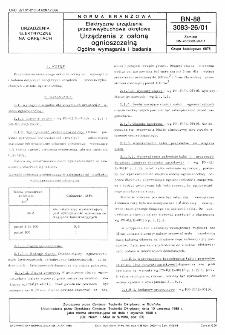 Elektryczne urządzenia przeciwwybuchowe okrętowe - Urządzenia z osłoną ognioszczelną - Ogólne wymagania i badania BN-88/3083-26/01