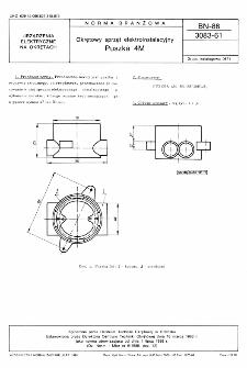 Okrętowy sprzęt elektroinstalacyjny - Puszka 4M BN-88/3083-61