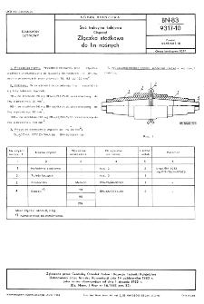 Sieć trakcyjna kolejowa - Osprzęt - Złączka stożkowa do lin nośnych BN-83/9317-10