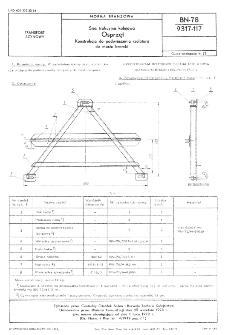 Sieć trakcyjna kolejowa - Osprzęt - Konstrukcja do podwieszenia izolatora do mostu bramki BN-78/9317-117