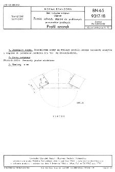Sieć trakcyjna kolejowa - Osprzęt - Zaciski, uchwyty, złączki do profilowych przewodów jezdnych - Profil szczęk BN-65/9317-18