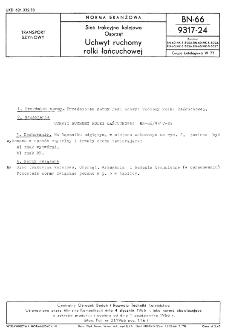 Sieć trakcyjna kolejowa - Osprzęt - Uchwyt ruchomy rolki łańcuchowej BN-66/9317-24