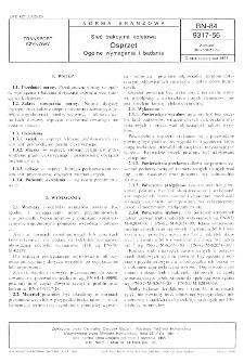 Sieć trakcyjna kolejowa - Osprzęt - Ogólne wymagania i badania BN-84/9317-56