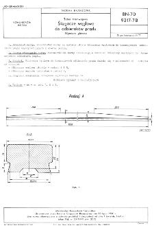 Tabor tramwajowy - Ślizgacze węglowe do odbieraków prądu - Wymiary główne BN-70/9317-78