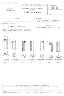 Porcelana elektrotechniczna montażowa - Rolki opornikowe BN-73/7028-01