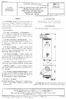 Urządzenia zabezpieczenia ruchu kolejowego - Blokada elektromechaniczna - Elektryczna zastawka dźwigni zwrotnicowej ZNS-1001 - Wymagania i badania BN-73/3506-18