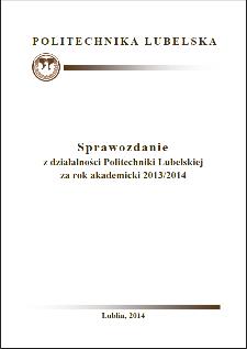 Sprawozdanie z działalności Politechniki Lubelskiej za rok akademicki 2013/2014