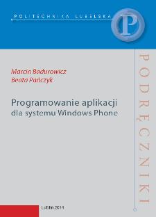 Programowanie aplikacji dla systemu Windows Phone