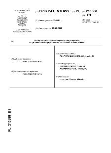 Narzędzie do kształtowania plastycznego wyrobów ze zgrubieniami skrajnymi metodą walcowania klinami płaskimi : opis patentowy nr 215888