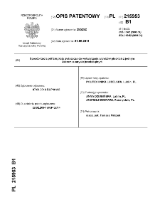 Sposób kucia półfabrykatu zwłaszcza do wytwarzania wyrobów płaskich z jednym żebrem o zarysie prostokątnym : opis patentowy nr 215953