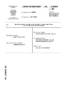 Sposób przygotowania próbki gruntu do badania współczynnika filtracji, zwłaszcza dla warunków anizotropowych : opis patentowy nr 216076