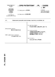 Urządzenie do przepychania obrotowego z regulowanym rozstawem osi : opis patentowy nr 216258
