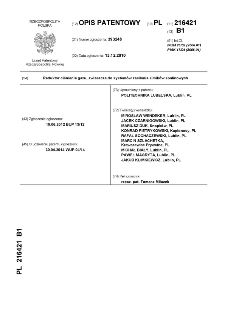 Reduktor ciśnienia gazu, zwłaszcza do systemów zasilania silników spalinowych : opis patentowy nr 216421