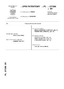 Frez palcowy walcowo-czołwy \h : opis patentowy nr 217266