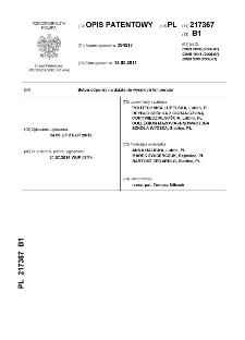 Beton odporny na działanie wysokich temperatur : opis patentowy nr 217367
