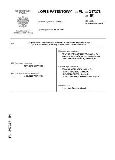Urządzenie do podgrzewania preform z materiału termoplastycznego przeznaczone do produkcji butelek przez rozdmuchiwanie : opis patentowy nr 217378