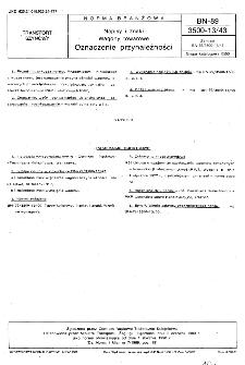 Napisy i znaki - Wagony towarowe - Oznaczenie przynależności BN-89/3500-13/43