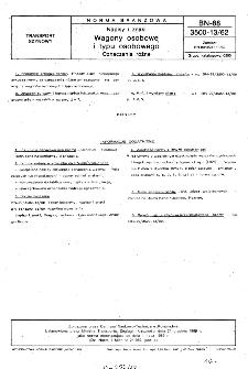 Napisy i znaki - Wagony osobowe i typu osobowego - Oznaczenia różne BN-88/3500-13/62