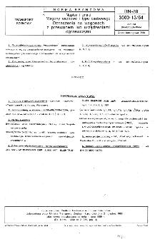 Napisy i znaki - Wagony osobowe i typu osobowego - Oznaczenia na wagonach z przewodem lub urządzeniami ogrzewczymi BN-88/3500-13/64