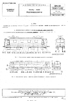 Napisy i znaki - Rozmieszczenie BN-89/3500-13/80