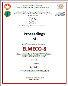 """Proceedings of the 8th International Conference ELMECO-8 - electromagnetic devices and processes in environment protection : joint with 11th Seminar """"Applications of Superconductors AoS-11"""", Nałęczów, Poland, September 28 – October 01, 2014"""