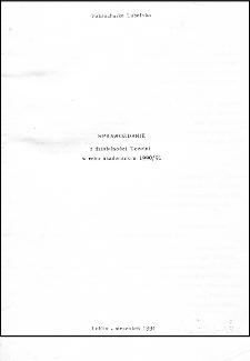Sprawozdanie z działalności Uczelni w roku akademickim 1990/91