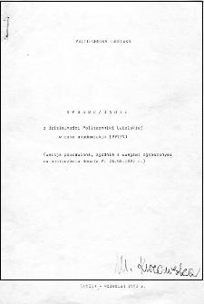 Sprawozdanie z działalności Politechniki Lubelskiej w roku akademickim 1992/93