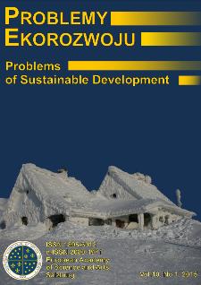 Problemy Ekorozwoju : studia filozoficzno-sozologiczne Vol. 10, Nr 1, 2015